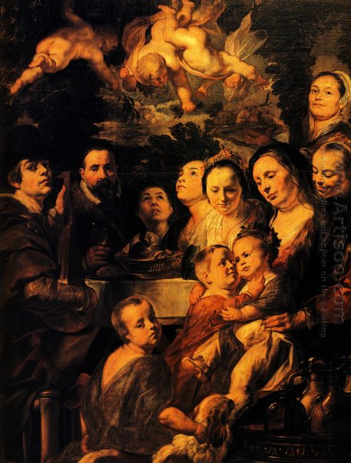 Portrait Of Jordaens Family