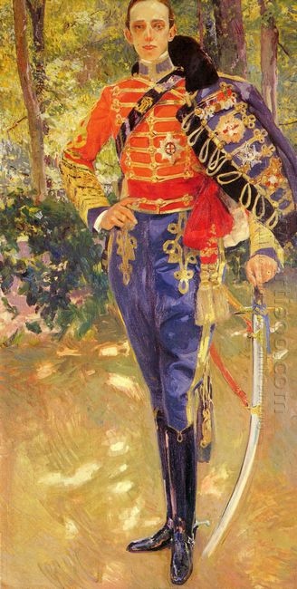 Portrait Of King Alfonso Xiii In The Uniform Of The Hussars 1907
