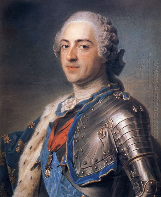 Portrait Of King Louis Xv 1748