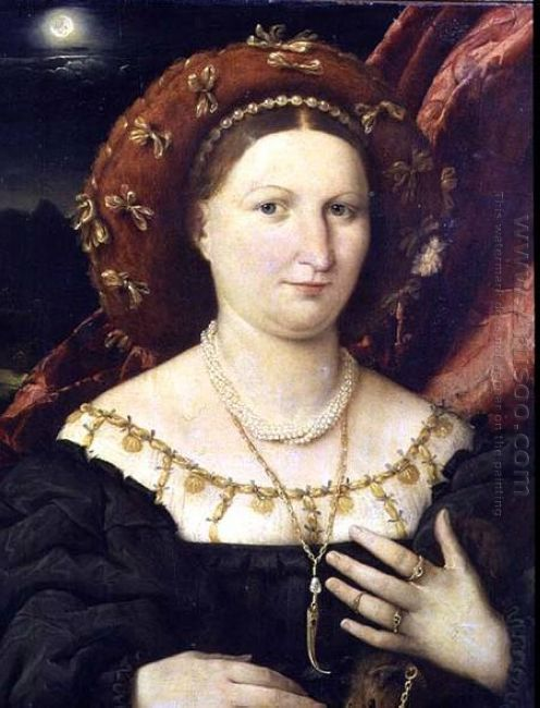 Portrait Of Lucina Brembati 1523