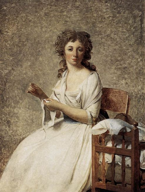 Portrait Of Madame Adelaide Pastoret 1792