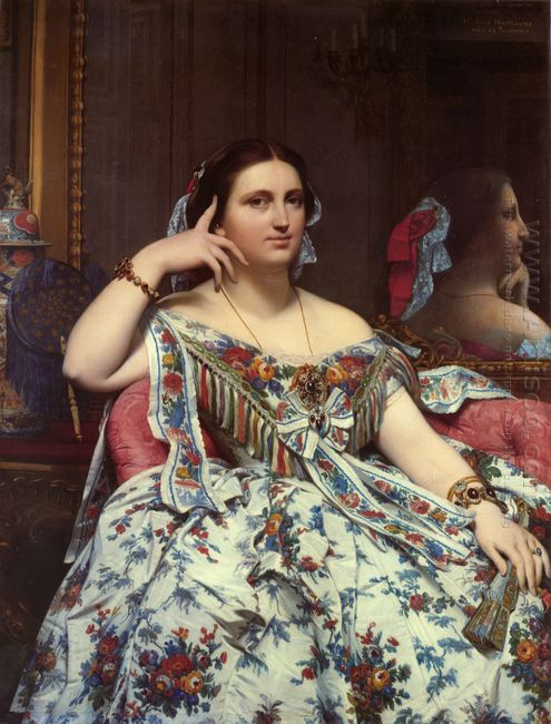 Portrait Of Madame Moitessier Sitting 1856