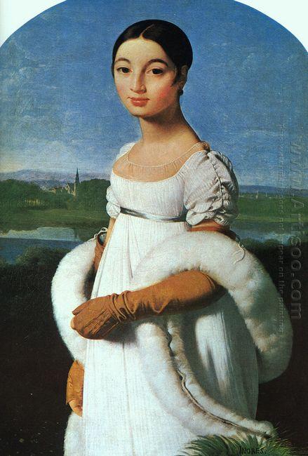Portrait Of Mademoiselle Rivière 1805