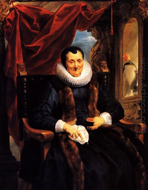 Portrait Of Magdalena De Cuyper 1636