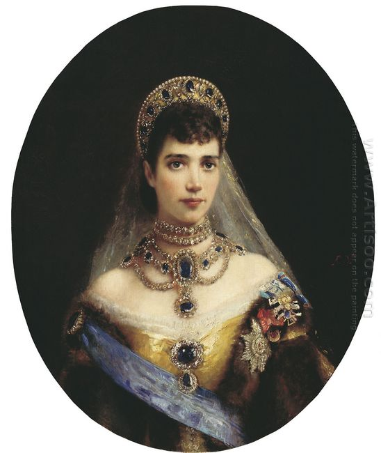 Portrait Of Maria Feodorovna Dagmar Of Denmark