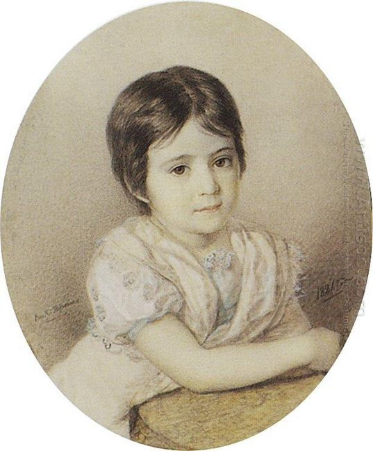 Portrait Of Maria Kikina As A Child
