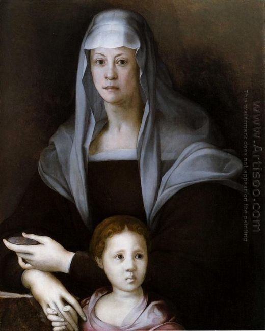 Portrait Of Maria Salviati With Giulia De Medici