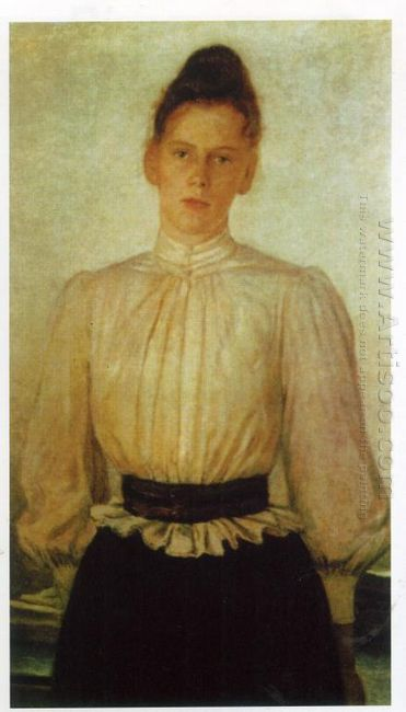 Portrait Of Maria Tolstaya Leo Tolstoy S Daughter