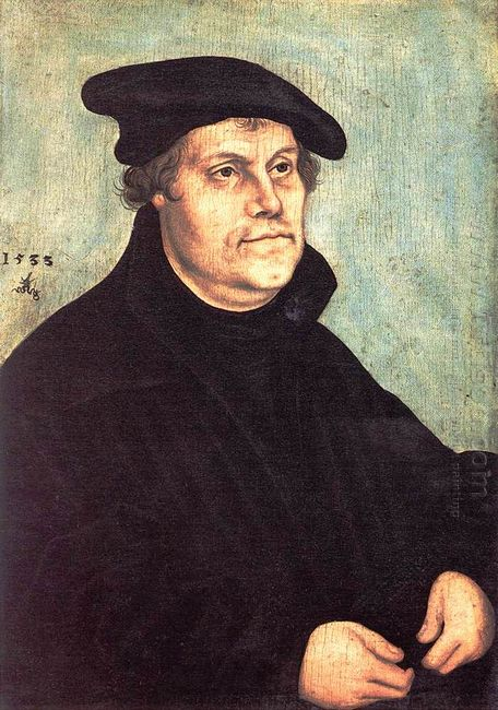 Portrait Of Martin Luther 1543