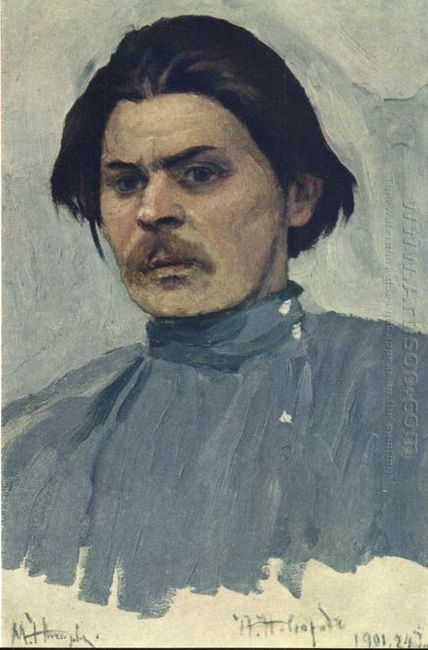 Portrait Of Maxim Gorky 1901