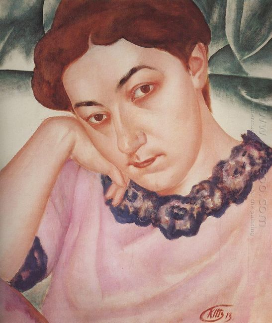 Portrait Of M F Petrova Vodkina 1913