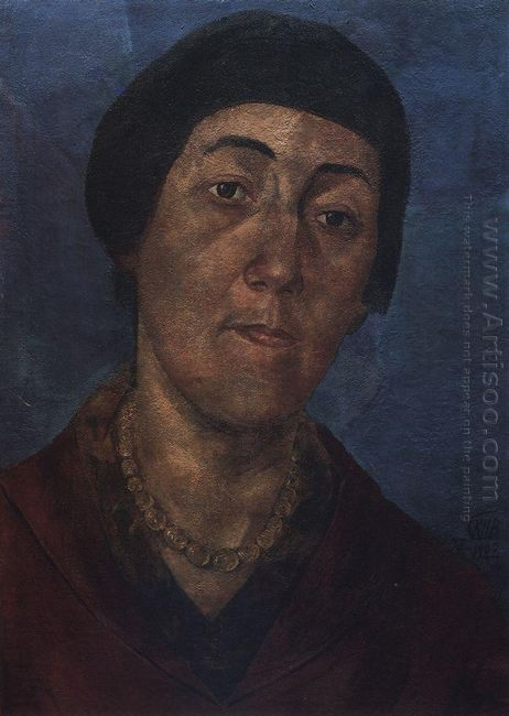 Portrait Of M F Petrova Vodkina The Artist S Wife 1922