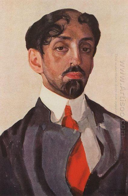 Portrait Of Mikhail Kuzmin 1909