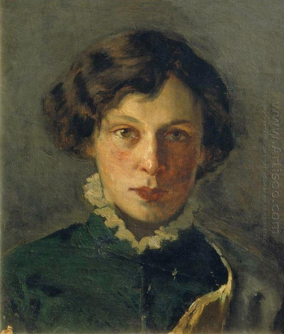 Portrait Of M Nesterova The First Wife Of The Artist 1886