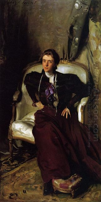 Portrait Of Mrs Alice Brisbane Thursby 1898