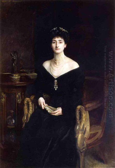 Portrait Of Mrs Ernest G Raphael Nee Florence Cecilia Sassoon 19