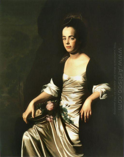 Portrait Of Mrs John Stevens Judith Sargent Later Mr John Murray