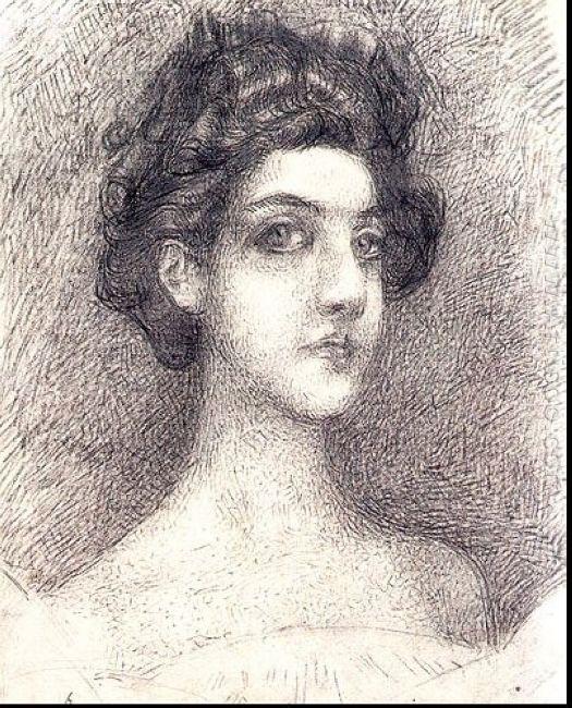 Portrait Of Nadezhda Zabela Vrubel 1904