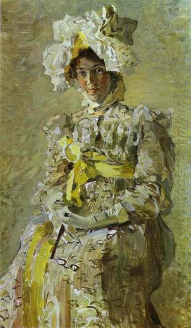 Portrait Of Nadezhda Zabela Vrubel The Artist S Wife In An Empir