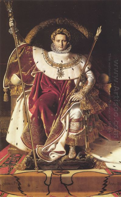 Portrait Of Napoléon On The Imperial Throne 1806
