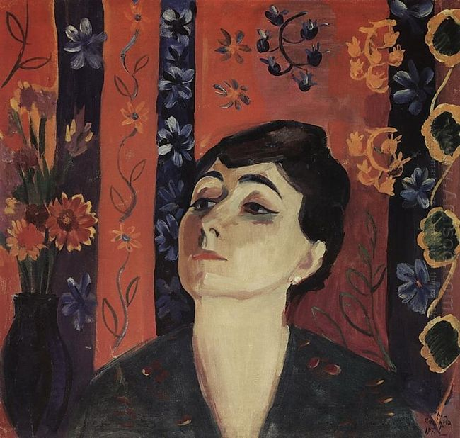 Portrait Of Nina Komurdzhyan 1917