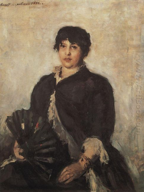 Portrait Of Olga Alyabyeva 1889
