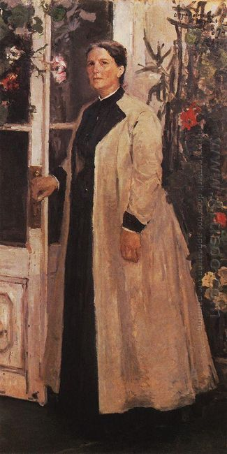 Portrait Of Olga Orlova 1889