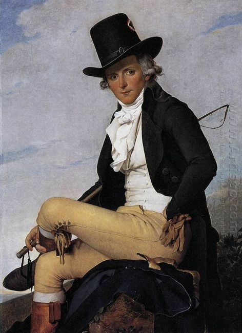 Portrait Of Pierre Seriziat The Artist S Brother In Law 1795