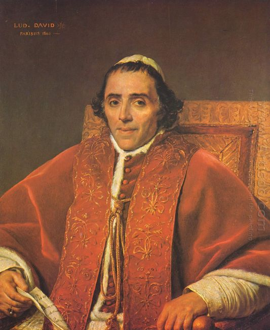 Portrait Of Pope Pius Vii 1805