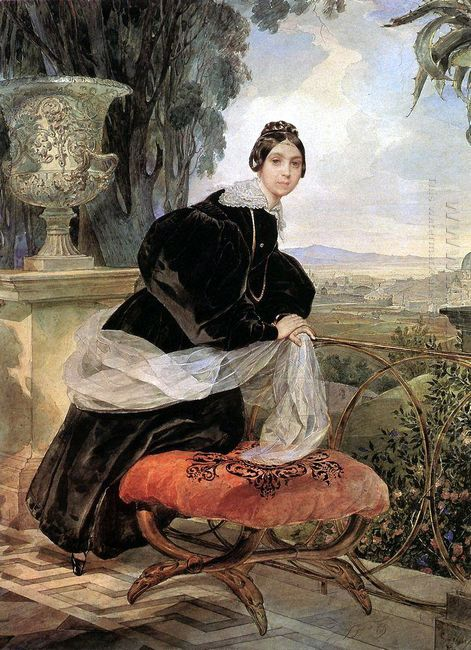 Portrait Of Princess Ye P Saltykova 1835