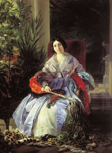 Portrait Of Princess Ye P Saltykova