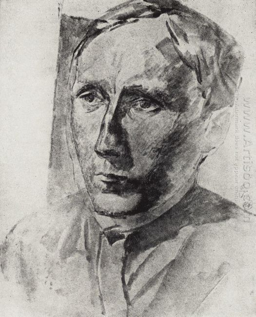 Portrait Of Professor Beloborodov 1922