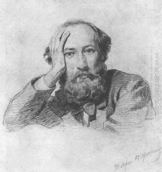 Portrait Of Russian Baritone Opera Singer Gennady Kondratiev