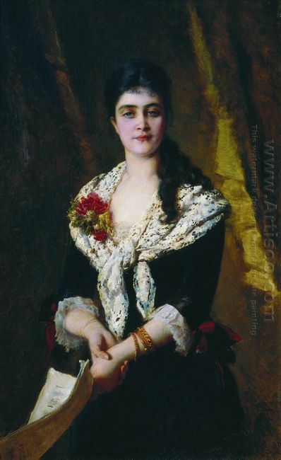 Portrait Of Russian Opera Singer Sandra Panaeva