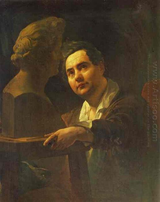 Portrait Of Sculptor I P Vitaly 1837