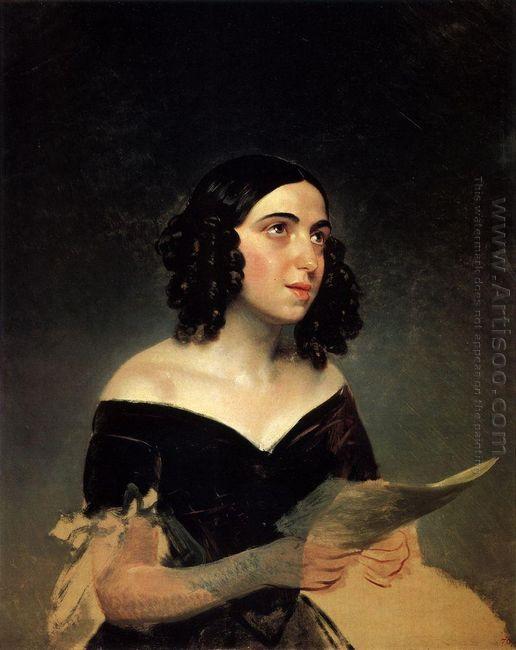 Portrait Of Singer A Ya Petrova
