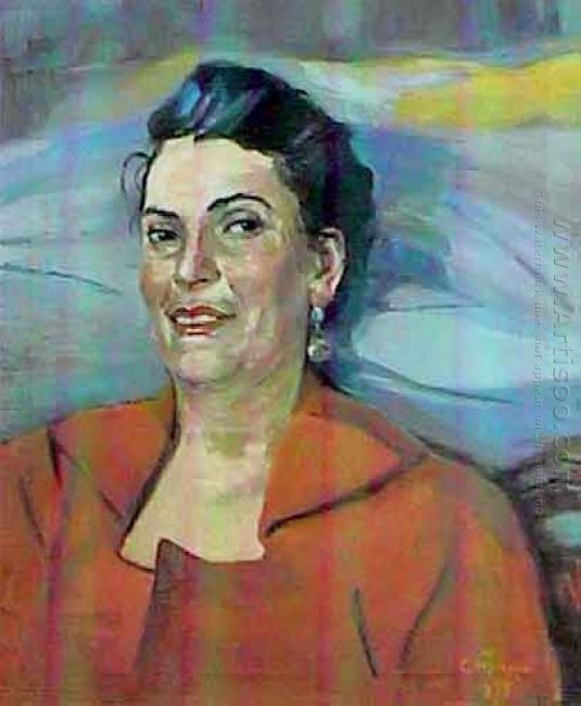 Portrait Of The Actress Pastuhova 1955