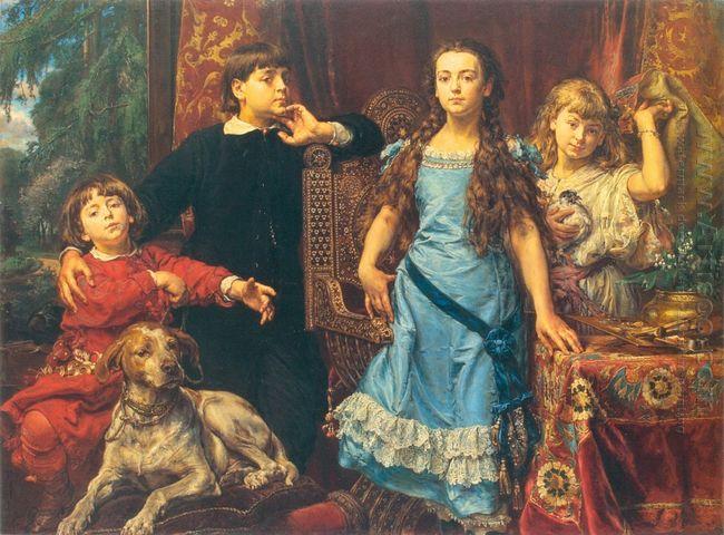 Portrait Of The Artist S Four Children 1879