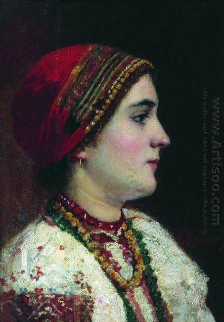 Portrait Of The Girl In A Ukrainian Dress