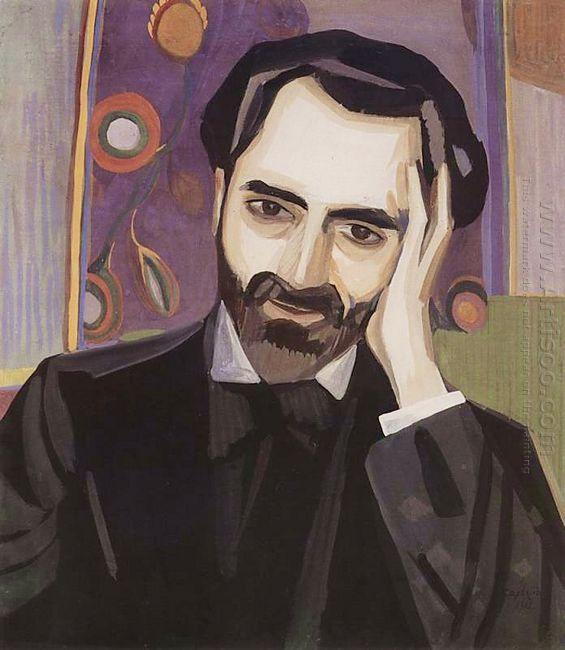 Portrait Of The Poet Alexander Tsaturyan 1915