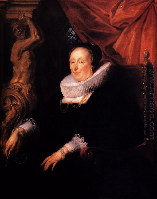 Portrait Of The Wife Of Johan Wierts 1635