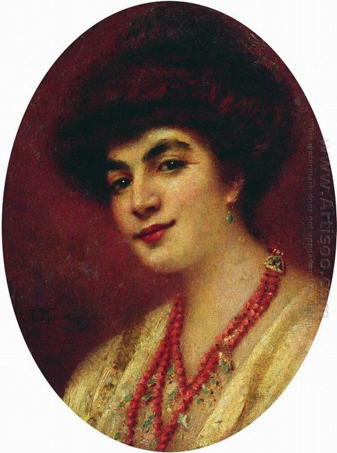 Portrait Of The Woman With Coral Beads