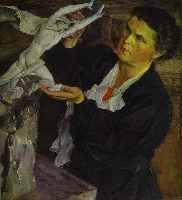 Portrait Of Vera Mukhina 1940
