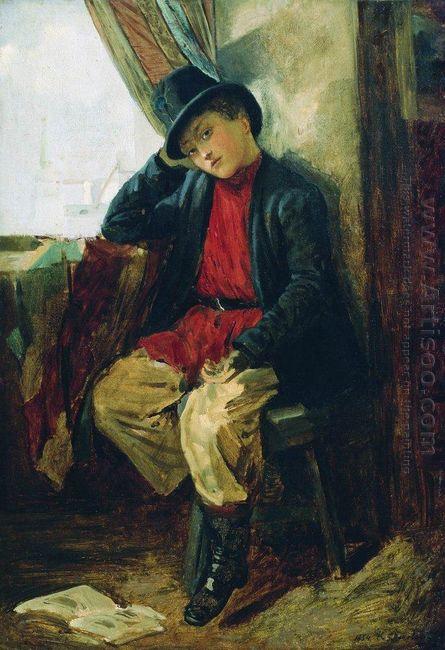 Portrait Of Vladimir Makovsky In Childhood