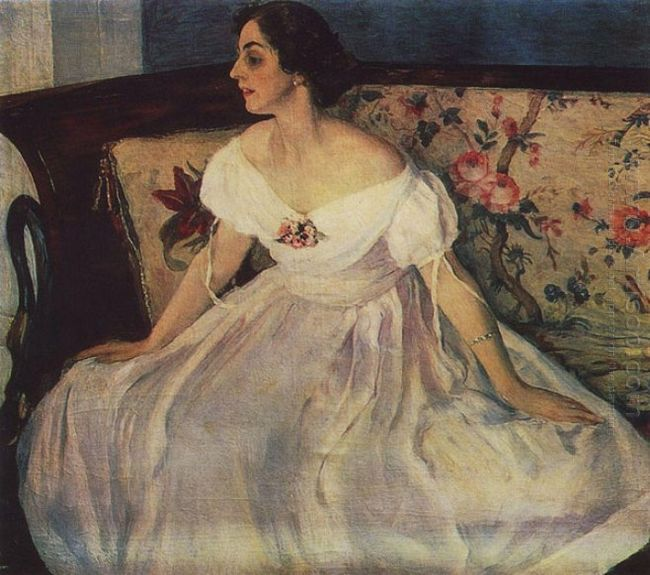Portrait Of V M Nesterova 1908