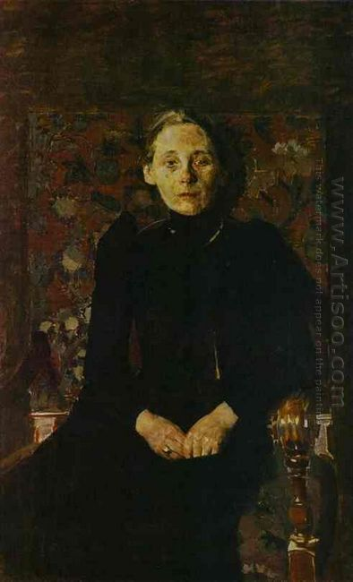 Portrait Of Wife Of The Businessman Artsybushev 1897