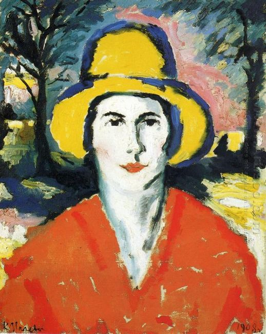 Portrait Of Woman In Yellow Hat 1930