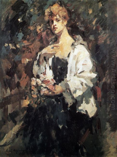 Portrait Of Z Pertseva 1921