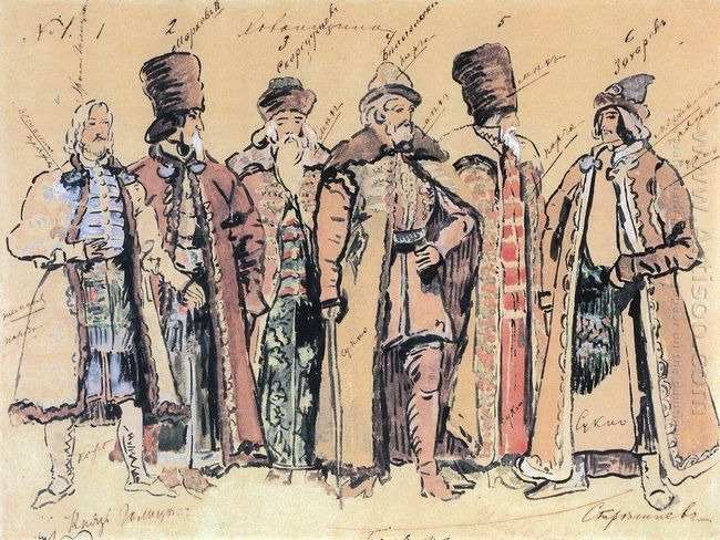 Prince Golitsyn And The Boyars 1910