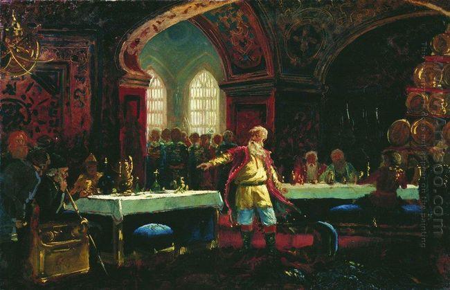 Prince Repin At The Banquet Of Ivan The Terrible